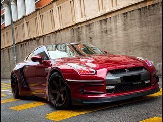 NISSAN GT-R35 stage 2 for rent