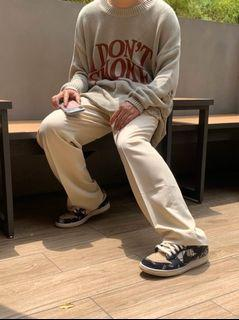 Simon select購入 SIMONMADE 立體剪裁 西裝 闊腿褲 米白