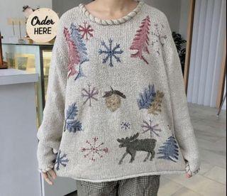 Sweater rajut, knit sweater