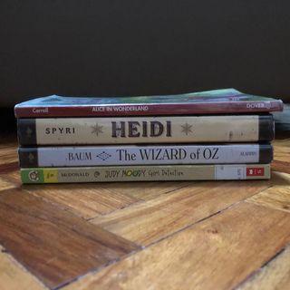 THE WIZARD OF OZ, HEIDI, JUDY MOODY