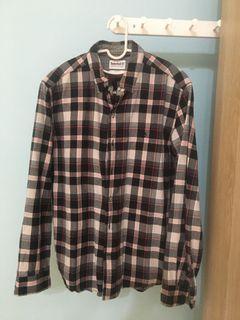 Timberland 黑格子襯衫外套