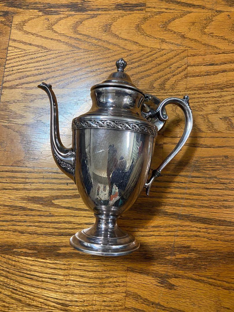 1935年 英國雕花大銀壺 可使用