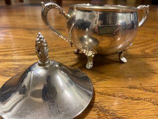 1950年英國古董銀茶具 有蓋 保存完整
