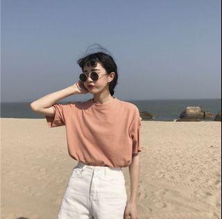 3色 淺橘 淺紫 黃色短袖T恤 #LoveIsLove