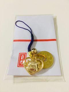 日本平成金牛吊飾
