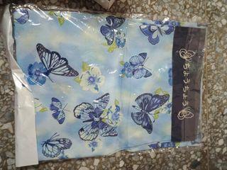 藍色蝴蝶圍裙  台灣制