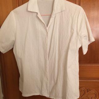 白色 短袖 襯衫