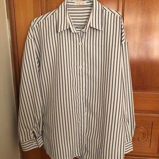 黑白 條紋 襯衫
