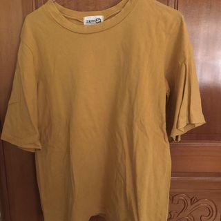 薑黃 五分袖 上衣
