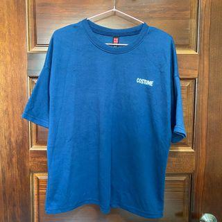 韓版 七分袖 藍色 上衣