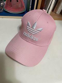 愛迪達adidas粉色鴨舌帽-二手