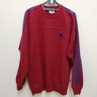 二手極新Adidas sweatshirt復古鋪棉