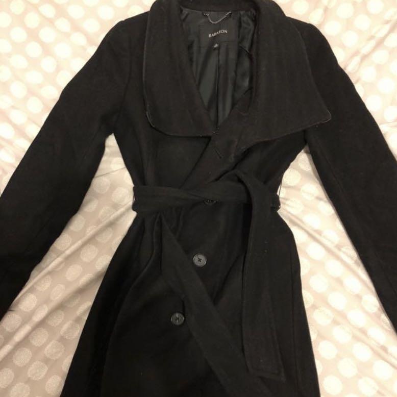 Aritzia Babaton Wool Coat - Black