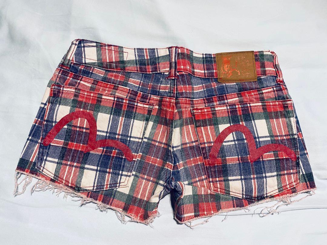 Evisu women jeans denim shorts check Levi's true Calvin