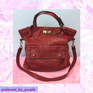 Fino• Piccolo Leather Bag - Red