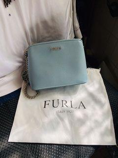 9.9成新/FURLA 芙拉 包 經典藍 英國專櫃購入
