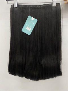 Hair Clip darkbrown blow 50cm