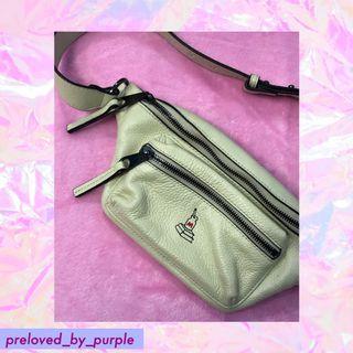 Katre• Sanrio• Bumbag ; Leather Belt Bag  - Cream