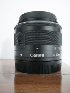 Lensa  Canon EF-M  15-45mm f/3.5-6.3 IS STM Good Condition