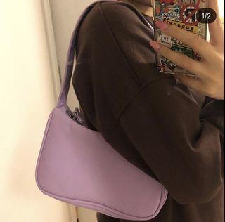 Lilac baguette bag