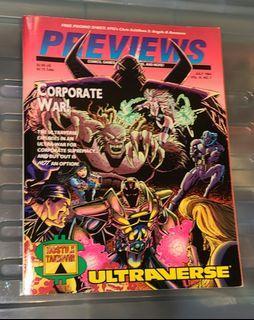 Marvel  DC comic Previews 美國漫畫