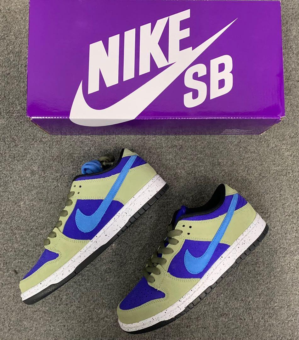 Nike SB Dunk Low Celadon US7 or wtt, Men's Fashion, Footwear ...