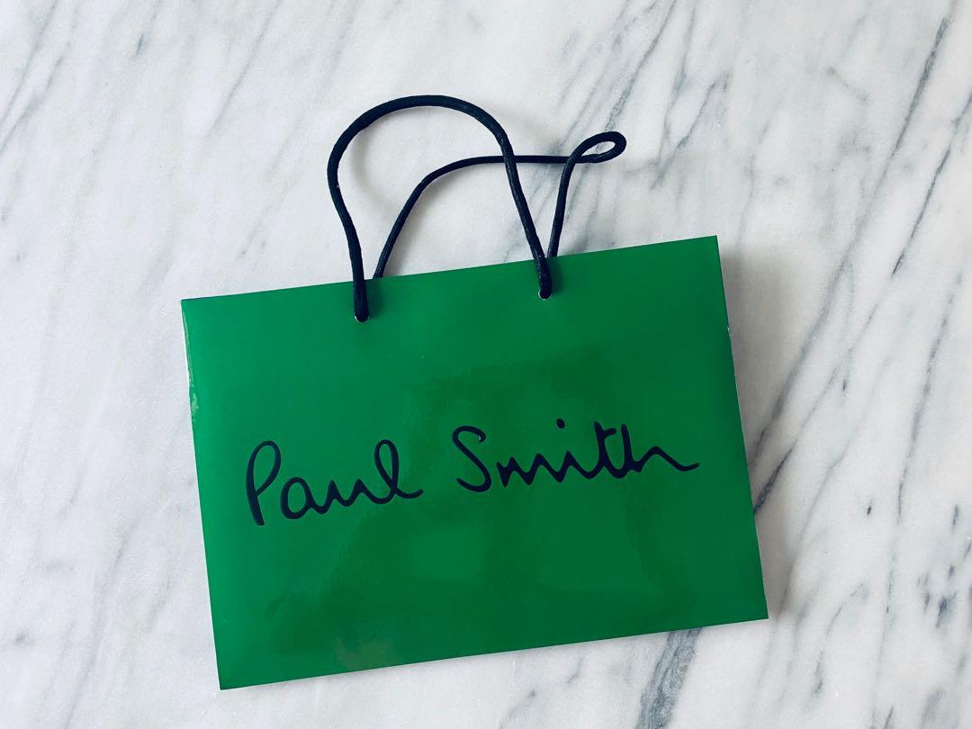 Paul smith blue green retail paper shopping bag Ralph Fred thom