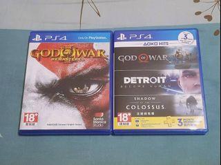 PS4戰神系列(3代強化版+4代)+底特律變人