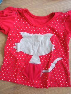 Red polka dot shirts