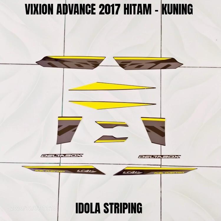 Striping Vixion Advance 2017 Hitam - Kuning