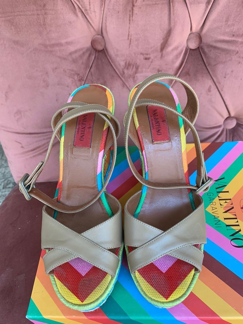 Valentino Rainbow Wedges