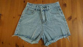 韓版顯瘦牛仔短褲