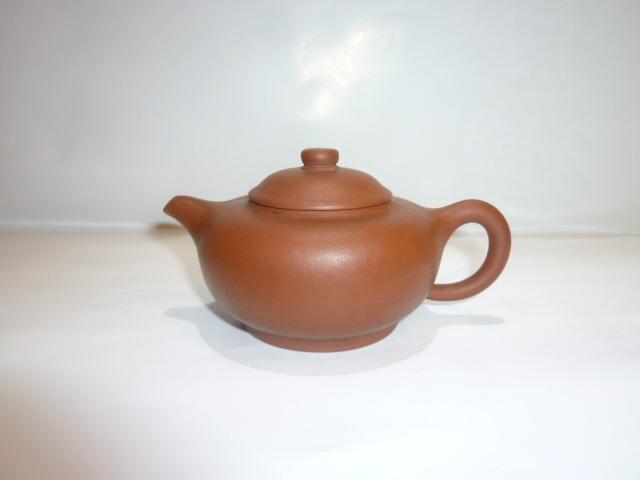 茶壺/紫砂壺/早期一廠錦記朱泥壺