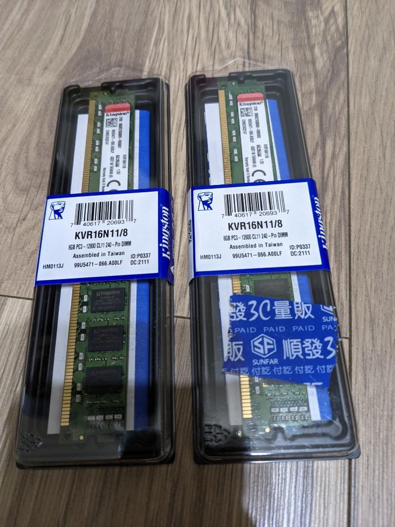 金士頓 KVR16N11/8 DDR3 8G*2