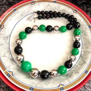"""AUTHENTIC YVES SAINT LAURENT YSL 1970 BALL NECKLACE 