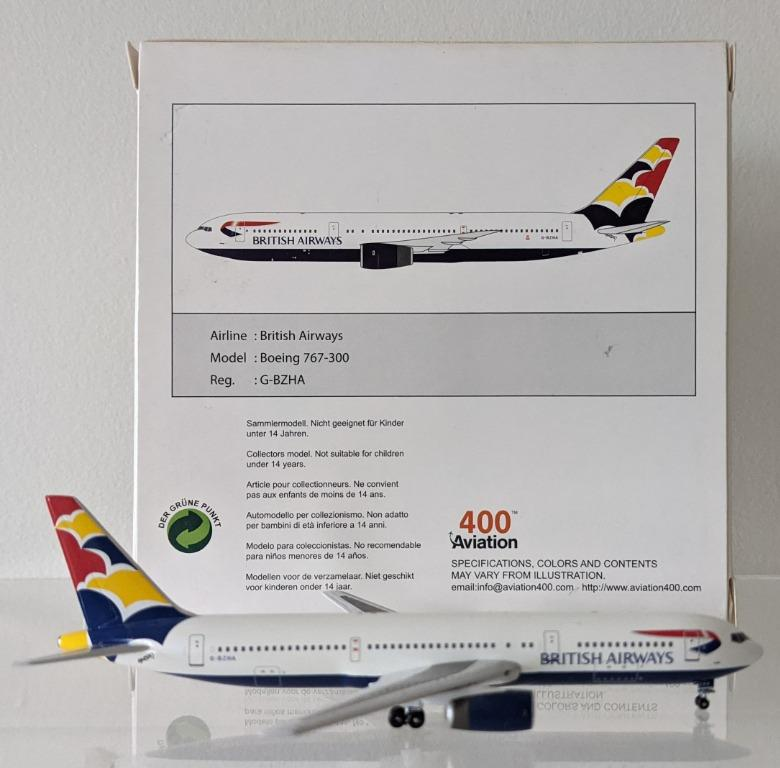 Aviation400 1:400 British Airways Boeing 767 (Denmark)
