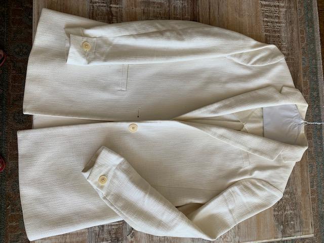 Banana Republic Ivory Cotton Blazer on Sale!