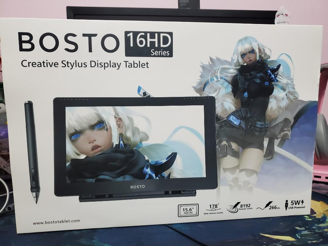 "BOSTO Display Drawing Tablet 15.6"" (16HD Series)"