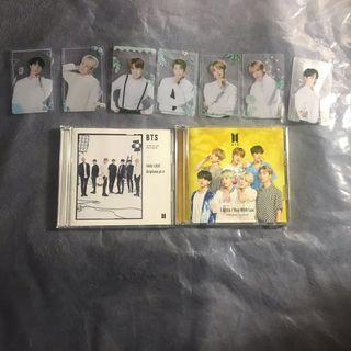 BTS JPN Fake Love + Lights CDs & Unofficial transparent cards