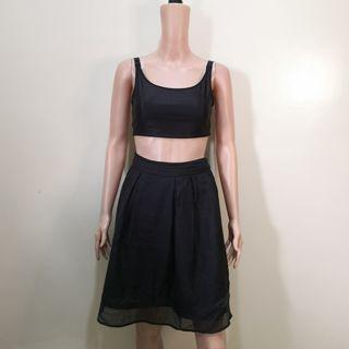 C372 - NB Black Sheer Skirt with Lining