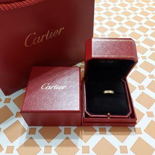 CARTIER LOVE卡地亞單顆鑽石黃K金婚戒