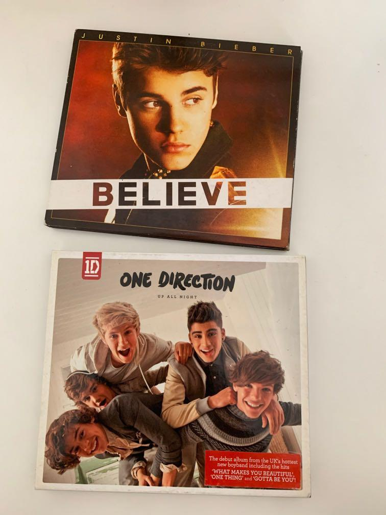 CD Justin Bieber Believe & One Direction Up All Night