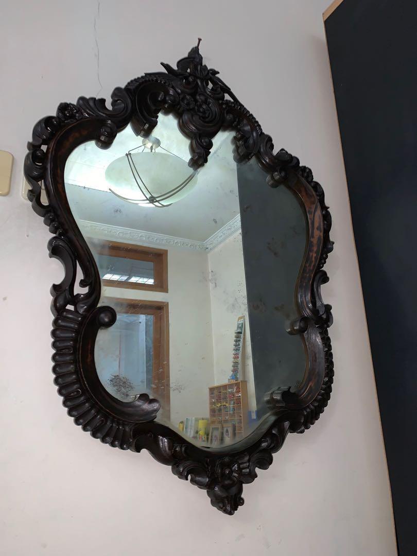 Cermin kartini kayu jati 90cm antik