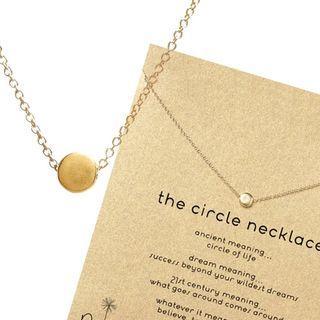 #免費送【Dogeared】金色豆豆 許願項鍊 Circle Necklace(祈願項鍊)