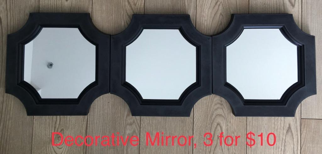 EUC decorative accent octagon mirror