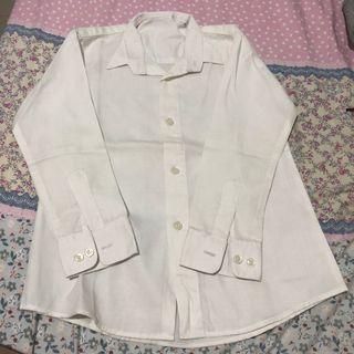 Kemeja putih daleman jas tangan panjang anak laki laki