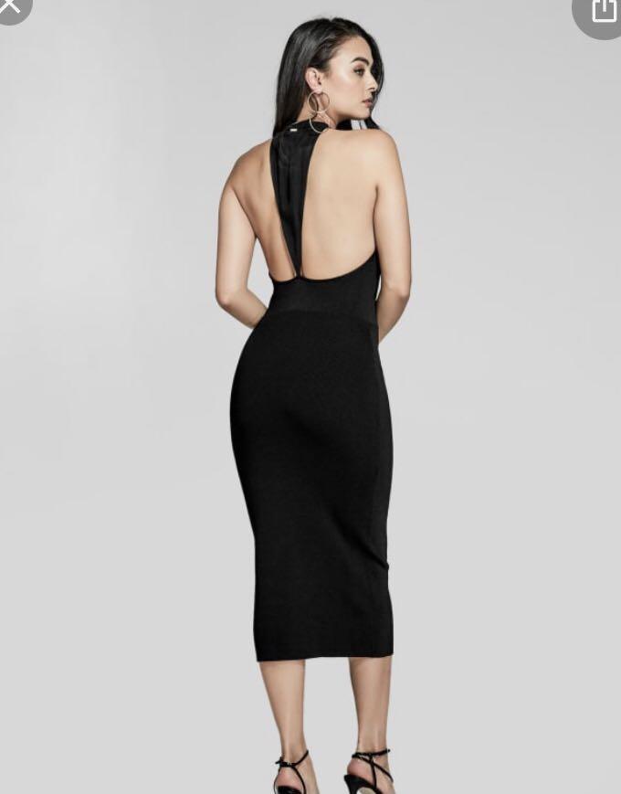 Marciano long black dress, size 2