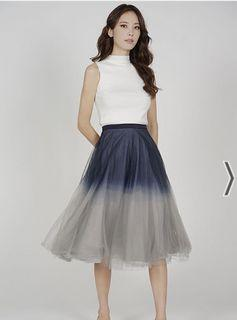 BNWT MDS ombré tulle skirt in midnight