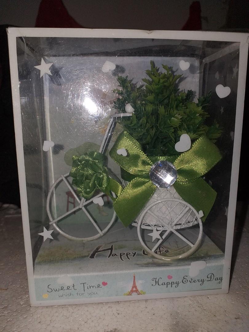 NEW-Pajangan Sepeda Bunga