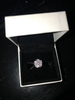 Pandora flower charm with purple crystals